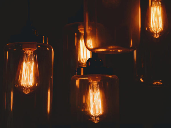 lightbulbs dark style