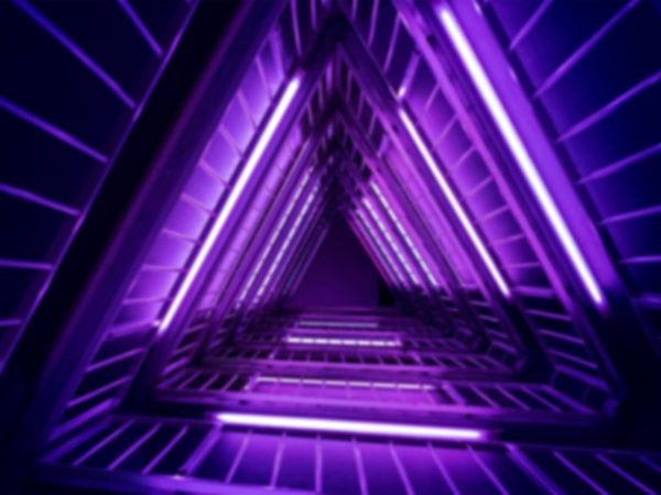 steps stairwell light purple