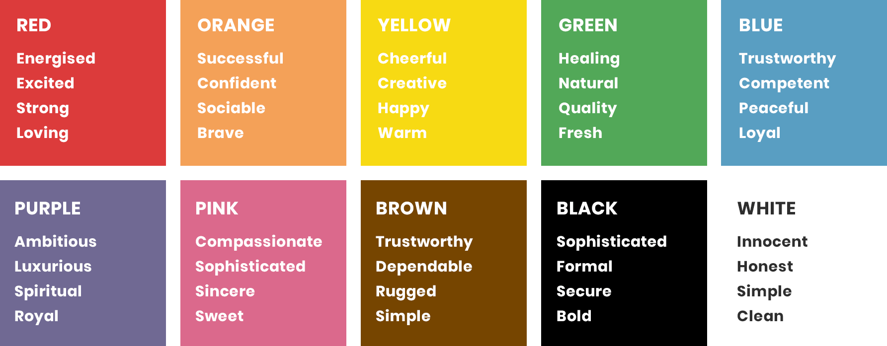 Glow Creative Brand Colour Meanings