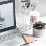 laptop desk pretty objects